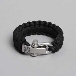 Paracord bracelet by ZLC, Black colour.