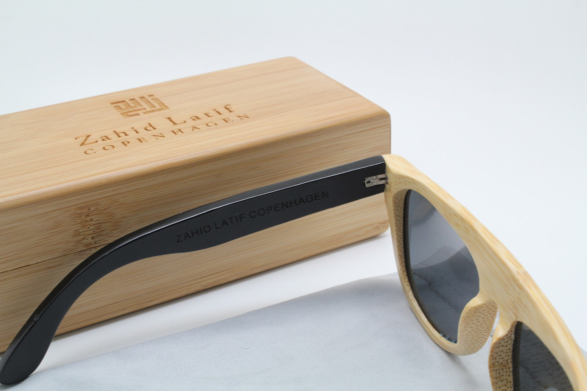 Combi natural and painted colour sunglasses by ZLC.