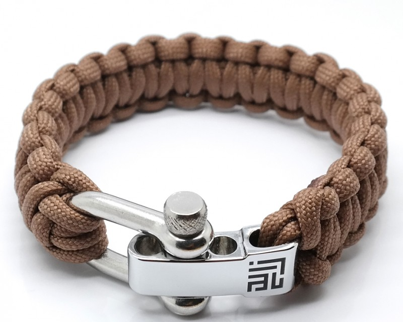 BEIGE PARACORD SILVER