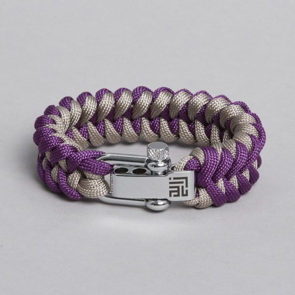 Grey purple paracord by ZLC