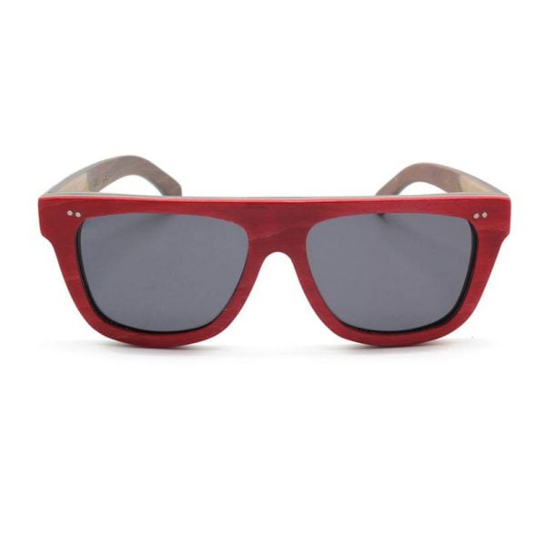 ZLC RED SKATE BAMBOO SUNGLASSES