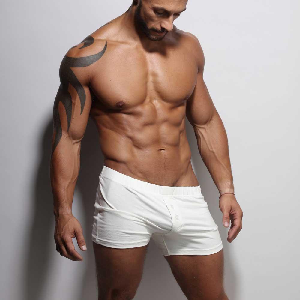 Rafael loves our off white boxer