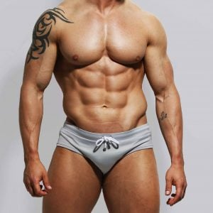 Grey swimwear by ZLC.