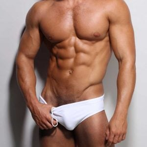 white Classic Swimwear by ZLC.