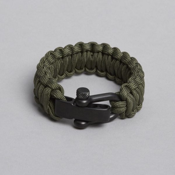 ARMY PARACORD BLACK LOCK BRACELET