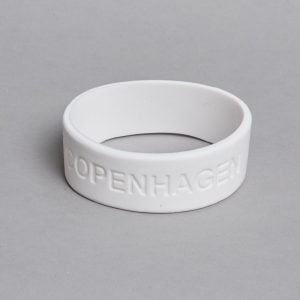 White bracelet by ZLC.