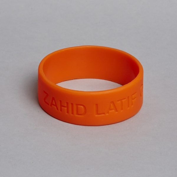 Orange Silicone Bracelet by ZLC.