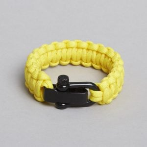 Yellow black bracelet by ZLC.