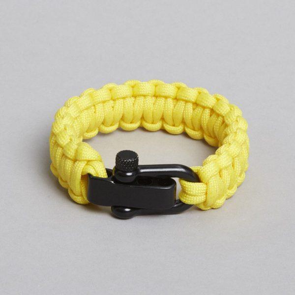 Yellow black bracelet by ZLC.