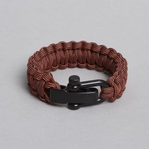 Reddish black paracord bracelet by ZLC.