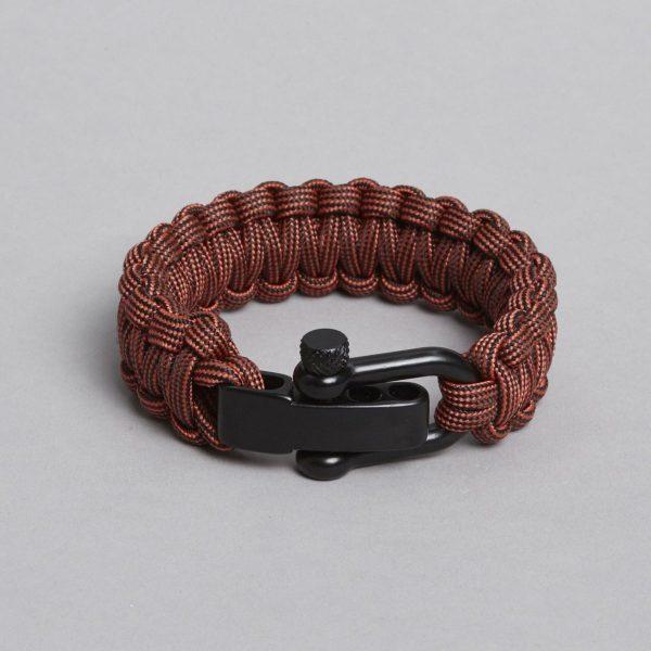 Reddish black paracord bracelet by ZLC.