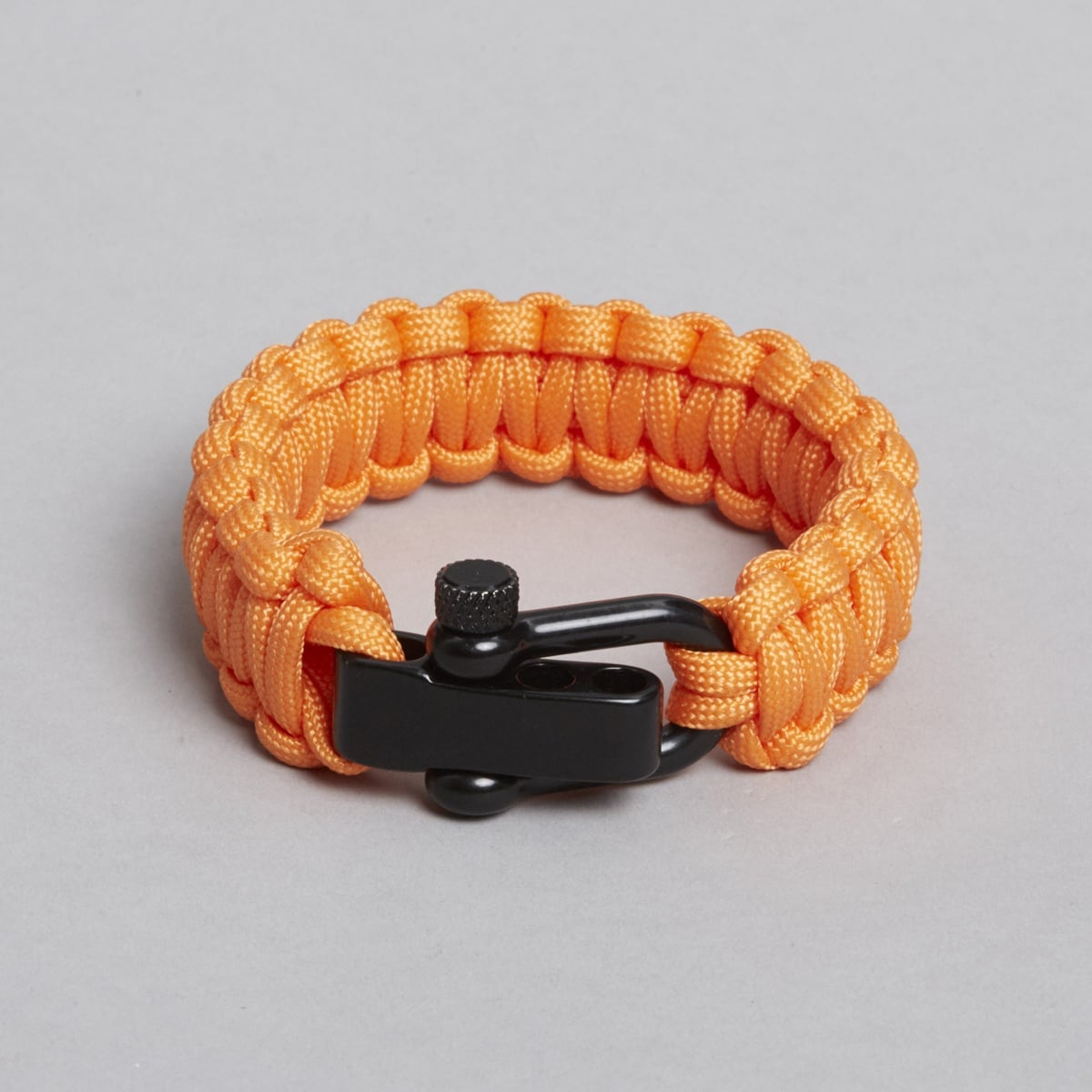 Orange black paracord bracelet.
