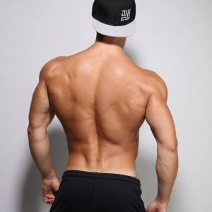 Fitted gym pants by ZLC from behind. with our famous cap.
