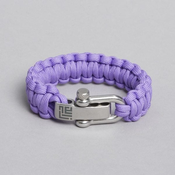 Light Purple paracord bracelet by ZLCOPENHAGEN.
