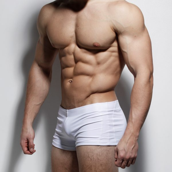 white-front-posing-trunks