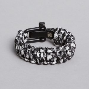 Zebra paracord with black lock-Paracord faldskærmsline