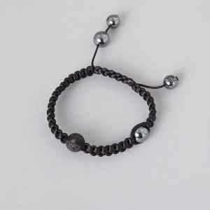 sorte lavasten armbånd