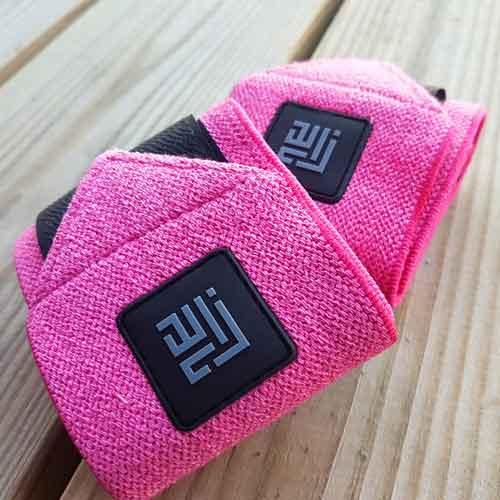 pink wrist wraps