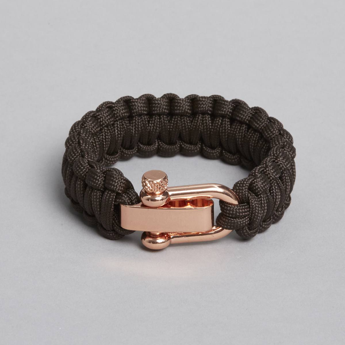 Brown Rose Gold Paracord Bracelet