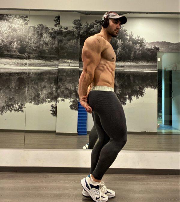 grå fitness tights