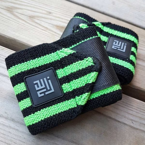ZLC Wrist wraps grøn/sort design