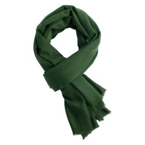 Army green pashmina shawl