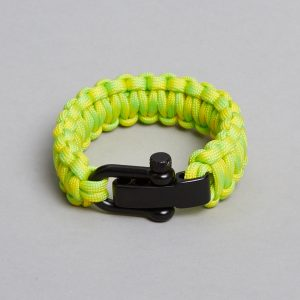 yellow green black bracelet