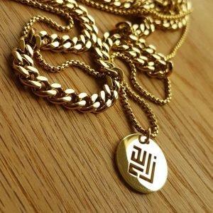 Gold necklace 18K plated by ZLCOPENHAGEN